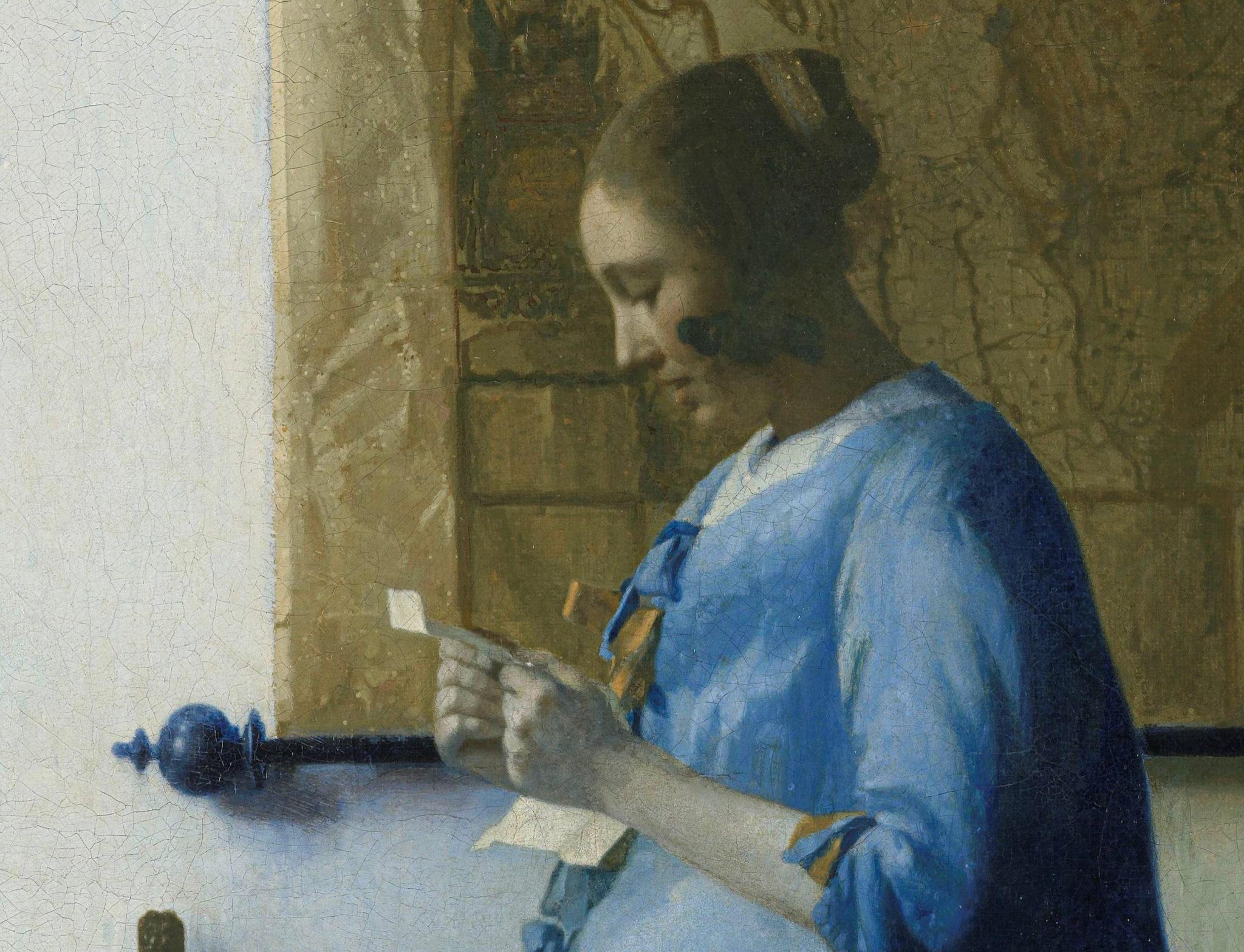 Giacometti Brieflezende vrouw detail