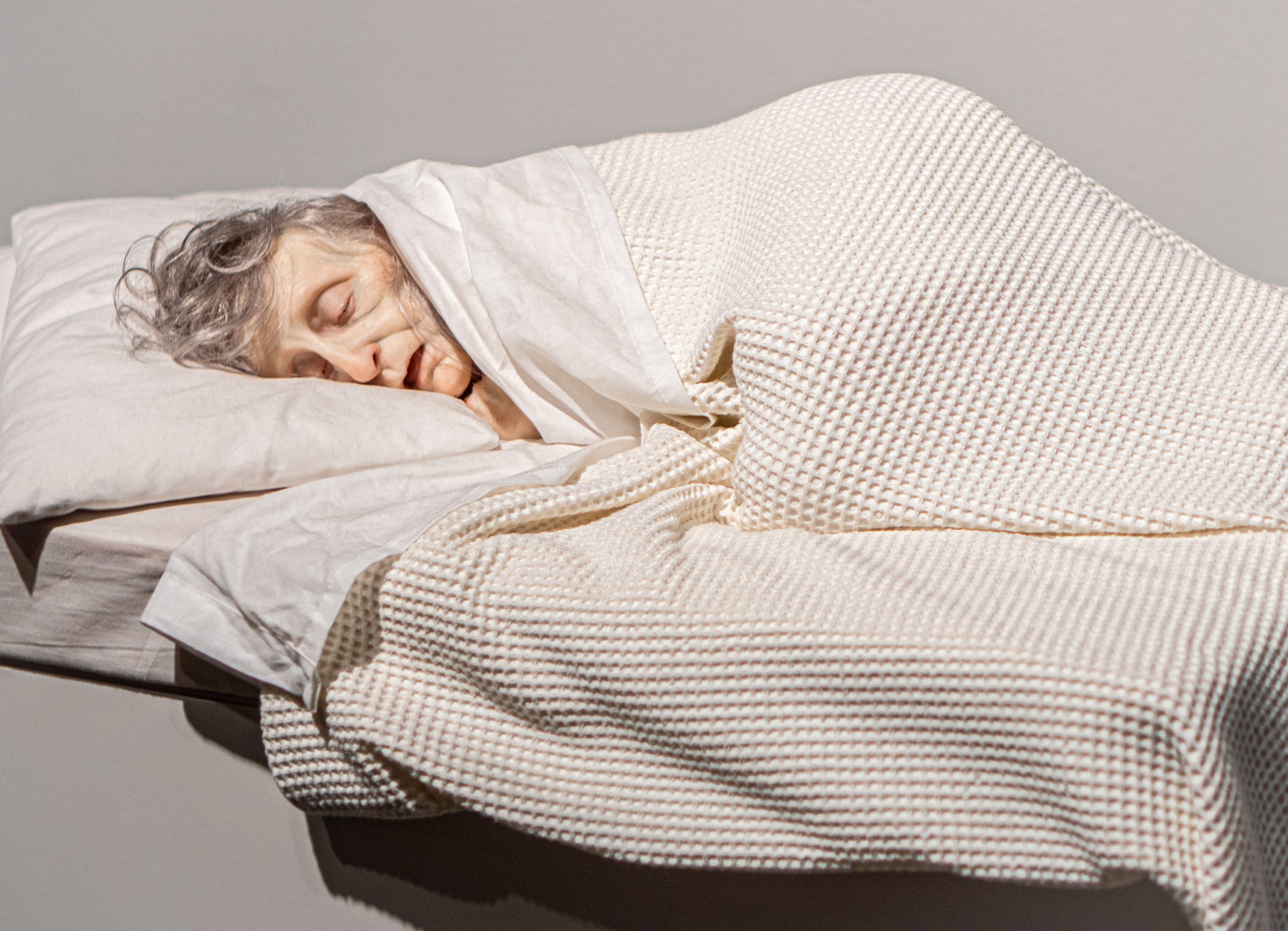 Ron Mueck - Old woman in bed